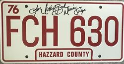 Actress Catherine Bach Daisy Duke Autographed License Plate