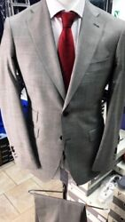 Grey Super 150 Cerrutti 2 Button Notch Lapel Wool Suit-made In Italy