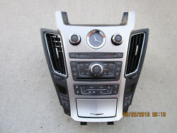 08-11 CADILLAC CTS DASH GPS NAVIGATION RADIO CLIMATE CONTROL SWITCHES FACE PLATE