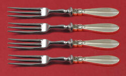 Princess Fuchsia By Frigast Sterling Silver Fruit Fork Set 4pc Custom Made 6