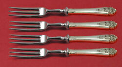 Queenand039s Lace By International Sterling Silver Fruit Fork Set 4pc Custom Made 6