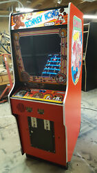 Donkey Kong Fully Restored Painted Red Original Video Arcade Game w Warranty