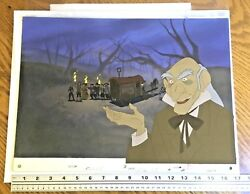 Beauty & Beast (1991) Production Background matching animation cel Disney obg