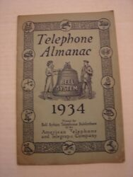 1934 Telephone Almanac For Bell System - American Telephone And Telegraph Co.