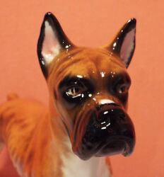 W Goebel FIGURINE Boxer Male Dog PERFECT CH 617 Brown West Germany 1968 VINTAGE