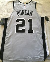 Tim Duncan San Antonio Spurs Authentic Nike Game Model 2014 2015 2016 Jersey Nwt