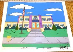 Simpsons Production Background Title Cel Treehouse Horrors V 1994 Halloween Obg