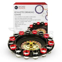 Roulette Shots Drinking Game Alcohol Spin Set 16 Glass Casino Set Gift Party New