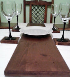 Solid Wood Table Runner - 5 Colours - Natural Pine Mahogany And Oak