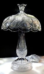 Waterford Crystal Seahorse Electric Table Lamp 22 In Original Box