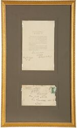 Rutherford B. Hayes - Rare Printed Letter Signed - On His Wife's Recent Death