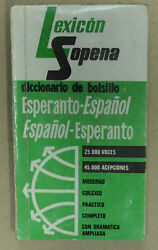 Lexicon Esperanto Spanish Hispana Esperanta Spain dictionary