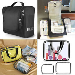 Transparent Waterproof Plastic PVC Travel Cosmetic Bag Makeup Organizer Pouches