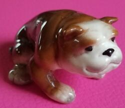 VINTAGE CERAMIC BULL DOG FIGURINE