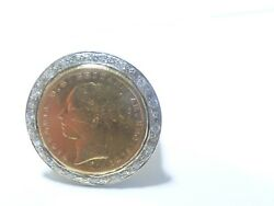 Wow Queen Victoria Ring 14k Yellow Gold With Diamonds .32tcw 24.1g