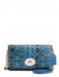 Coach Crosstown Crossbody In Clorblock Exotic Embossed Leather NWT $149.88