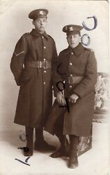 Ww1 Soldier Group East Kent Regiment Greatcoat Buffs Economy Slip Over Title