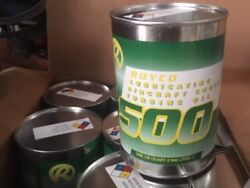 Royco 500 Aircraft Engine Turbine Oil 4 Cases Available- 24 Cans/case