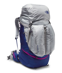 NEW NORTH FACE WOMENS FOVERO 70L M-L BACKPACK RUCKSACK HIKING HIGH RISE GREY