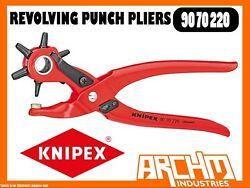 Knipex 9070220 - Revolving Punch Pliers - 220mm - Holes Opening Spring Locking