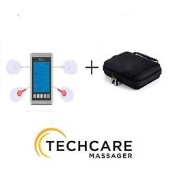 Rechargeable Techcare Tens 12 Modes Tens Unit With Protective Carrying Case