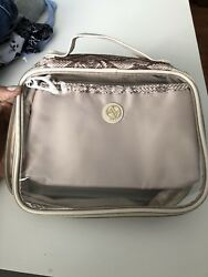 Adrienne Vittadini Set of Two Snake Skin Travel Bags Clear Pouch