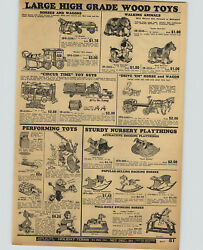 1932 Paper Ad Wooden Toy Circus Time Wagon Wolverine Jolly Juggler Rubber Dolls