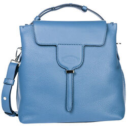TOD'S WOMEN'S HANDBAG CROSS-BODY MESSENGER BAG PURSE JOY BLUE 044
