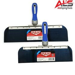 Advance Drywall Offset Taping Knife 12 And 14 Blue Steel Finishing Knives Set