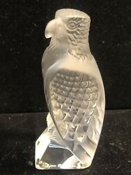 Rare Lalique Collector's Society Standing Eagle MINT Condition wBox