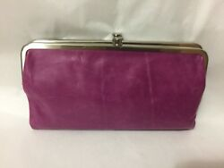 NWT HOBO INTERNATIONAL Pansy Pink Leather Lauren Clutch Wallet SOLD OUT