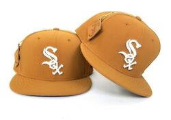 New Era Timberland Tan color Chicago White Sox 59Fifty Fitted hat Cap