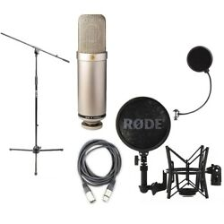 Rode NTK Class A Tube Condenser Microphone w Shockmount Cable Windpop Stand