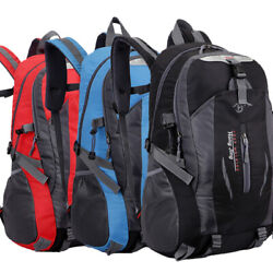 Camping 40l Mountaineering Backpack Bag Hiking Outdoor Travel Rucksack Bags New $16.99