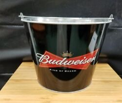 4 Budweiser Bowtie Ice Bucket Party Drink Beer Holder Pail Mancave 2005 New