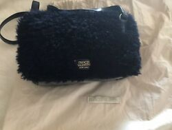 Frances Valentine Lucy Kate Spade Navy Blue Lamb Shearling Leather 455