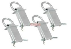 Heavy Duty Trailer Stake Pocket D Ring Zinc Coated 5400 Lbs Load Limit - 4 Pack