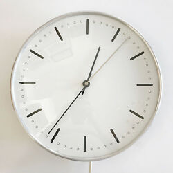 RARE Mid Century Modern CITY HALL WALL CLOCK by ARNE JACOBSEN for GEFA 1956