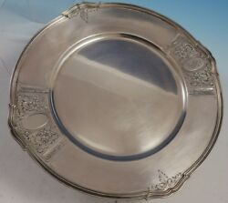Saint Dunstan Chased By Gorham Sterling Silver Charger Plate A12415/1 3057