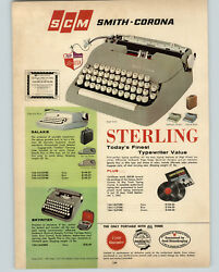 1962 Paper Ad Scm Smith Corona Portable Typewriter Sterling Galaxie Skyriter