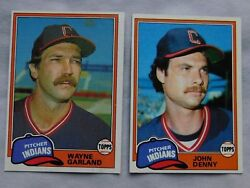 1981 Topps Cleveland Indians Baseball Card Pick One