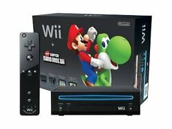 Nintendo Wii Black Console And New Super Mario Bros Discounted Free Shipping