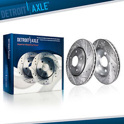 Front Brake Rotor For Honda Accord Civic Element Cr-v Acura Ilx Drilled Slotted