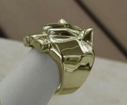 Absolutely Stunning Panther Cheetah Lion Ring Made Of Solid 14k Gold Menand039s Women