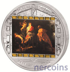 Cook Islands 2012 Flight Into Egypt By Rubens 20 Pure Silver Proof Coin