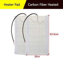 Universal Car Heated Seat Cover Pad Carbon Fiber Heated Winter Warmer Heater Mat