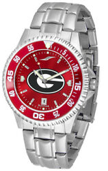 Georgia Bulldogs Men's Anochrome With Color Bezel Stainless Steel Watch