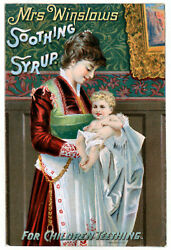 Mrs. Winslows Soothing Syrup- Vintage Advertising Art Print / Poster