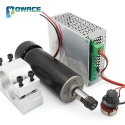 500w 0.5kw Er11 Air Cooled Cnc Spindle Motor + 52mm Clamp + Speed Controller Diy