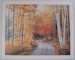Print Of Landscape By Robert Wood 22x27 -looks Like A Calenderand039s Page